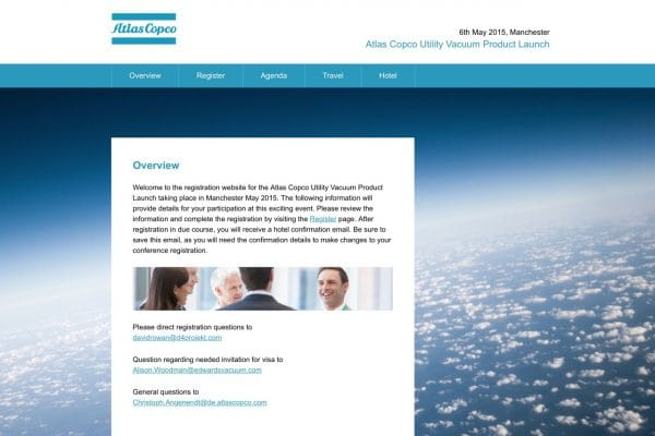 Atlas Copco website