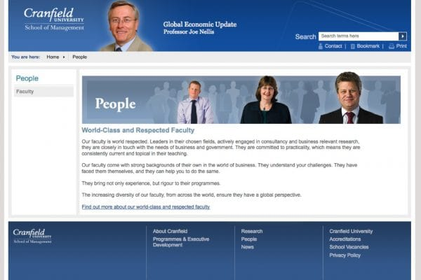 Cranfield website