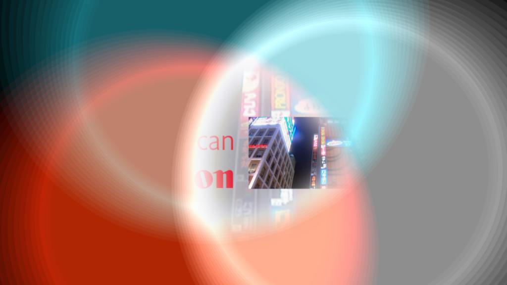 Canon example 1, colourful circles